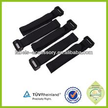 heat-resistance quality plastic buckle elastic nylon velcro strap