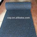 No tóxico de heavy duty rollos de goma para el gimnasio, alfombras de goma del rodillo, 6mm piso del gimnasio