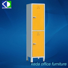 designed 2 compartment metal stackable lockers