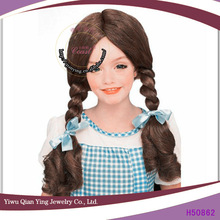 wizard of oz dorothy brown braid hair wig