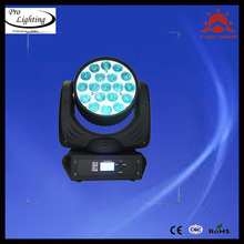 2014 New big stage decoration 19*12w RGBW led zoom moving wash head light