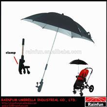 Colourful baby stroller clip on umbrella