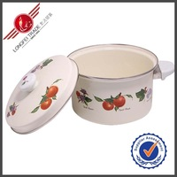 26CM Traditional Kitchenware Cream Enamel Cast Iron Cookware