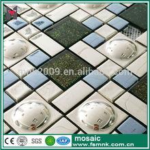 Stainless Steel mix ceramic mosaic tile