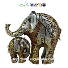 Elefantes de resina estátua figura africano