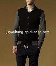 men's round neck screw knitting button cardigan sweater