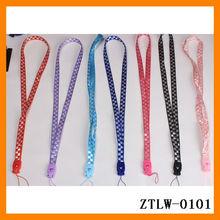 2014 Grid Jacquard Weave Nylon Plastic Button Mobile Phone Strap Hanging Rope Customizing ZTJW-0101