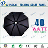 40W solar charger umbrella designed for laptop and mobile phone on beach
