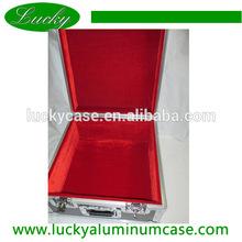 high quality black aluminum instrument case with red velvet