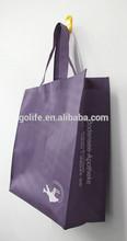 Elegant purple non woven shopping bag for advertising