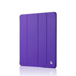 purple smart silk grain PU leather case for ipad 4 3 2