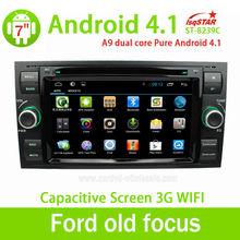 La estrella de LSQ ventas al por mayor capacitiva Android 4.2 Ford focus viejo de las multimedias del coche gps navi con dvd 3 G WiFi Multi táctil de la CPU 1.5 GHZ ROM 8 G