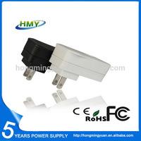 5V 1.5A Interchangeable AC USB Adapter With US EU UK AU KA Plug