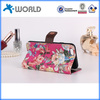 Wallet style stand Flower leather mobile phone cover for iphone 6