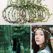 Women's Fashion Boho Style Floral Beach/Party/Wedding Flower Crown Hairband Headband QFHD-1001