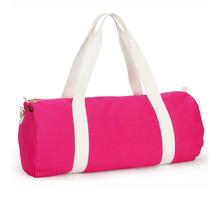 hot pink ladies sports gym travel removable duffel shoulder bag