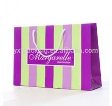 Pink stripe gift paper bag