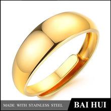 In Stock 18K Gold Plating Adjustable Brass Ring