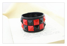 Rock design leather bracelet jewelry for men and women