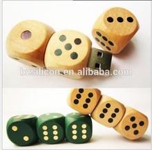 character mini dice shape wooden usb drives