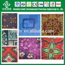 PET/PP floral print carpet
