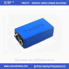 HOT!!! Super power ER 9V 1200mAh lithium ion battery for EV, telecom, solar energy,motorcycle