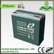 rechargeable e bike 12v storage battery 20ah 6-dzm-20