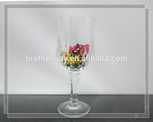5oz 150ml clear diamond caved sundae glass cup with base , iced cream glass cup