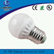 low power consumption 3w ac cob driverless cheap new led bulb
