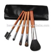 Goat hair 5pcs makeup brush kit