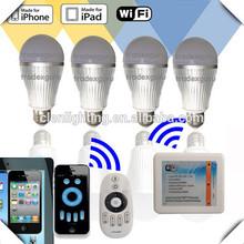 China led lighting wifi bulb, smartphone control hue lamp, RGBW color change