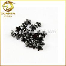 Nice machine cut star black cubic zircon