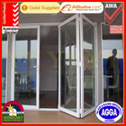 Hot Sale Double Glazing Aluminium Bi Folding Door With Australian Standard, with UV Protect Reflective Tinted Glass