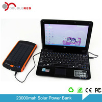 Power aggregation solar power bank 23000mAh for laptop power bank, for iphone5, Samsung, Sony Ericsson, LG, Camera, PSP,