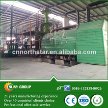 Semi-auto and full-auto waste rubber diesel pyrolysis equipment
