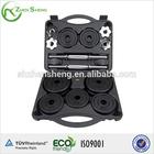 coated black cast iron dumbbell set with PE box