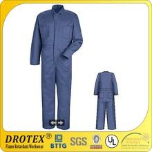 240gsm Cotton Fire retardant uniform with blue color
