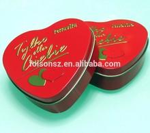 Valentine's day gift heart shape for love dessert tin can,tin box,candy tin box