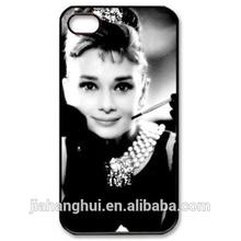 Audrey Hepburn beautiful fashion Case for iPhone 5/5S Hard plastic custom cover