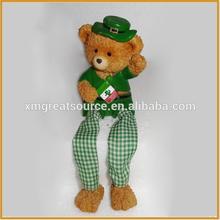 lovely mini resin bear polyresin teddy bear for home decor