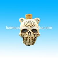 ceramic bottle skull pendant