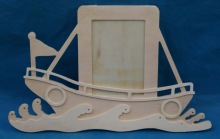 New design custom boat shaped wooden picture frame