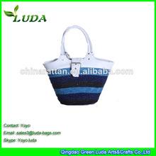 Fashion Summer Straw Beach Bag Shopping Bag Eco-friendly Bag in 2014