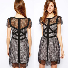 Buy wholesale apparel direct from china women cotton lace dresses