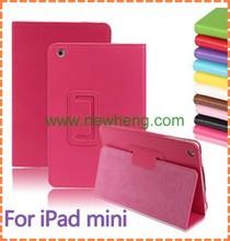 Lichi grain leather case for Ipad mini