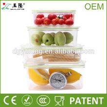 Plastic storage box with vacuum sealer ,BPA free, Fresh boxes for food storage