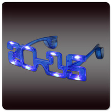 Promotional LED Flashing Sunglasses for 2015 New Year, Christmas, Halloween Parties