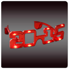 Eco-friendly Flashing EL Light Sunglasses for 2015 New Year, Christmas, Halloween, Thanksgiving Day Parties