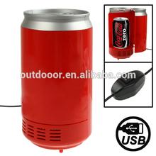 USB PC Cans Style Mini Fridge Beverage Drink Cooler / Warmer, Size: 20.5 x 10.2 x 10.2cm