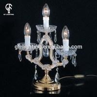 European modern moving-head crystal article table lamp